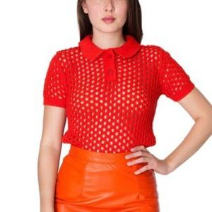 American Apparel Knit Red top
